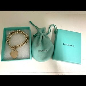 Tiffany & Co. Heart Tag Bracelet with Box and Bag
